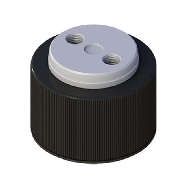 Cole-Parmer VapLock Solvent Delivery Caps with Inlet Valve and Filter FFKM
