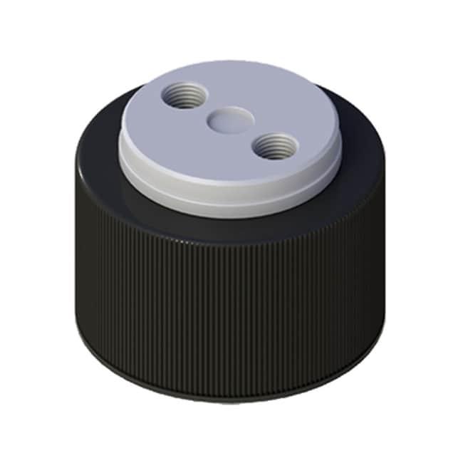Cole-Parmer™VapLock™ Lösungsmittelverschlüsse mit Einlassventil und Filter EPDM-Lufteinlassventil, zwei 1/4Zoll-28-Anschlüsse, GL38; 1Stück Cole-Parmer™VapLock™ Lösungsmittelverschlüsse mit Einlassventil und Filter