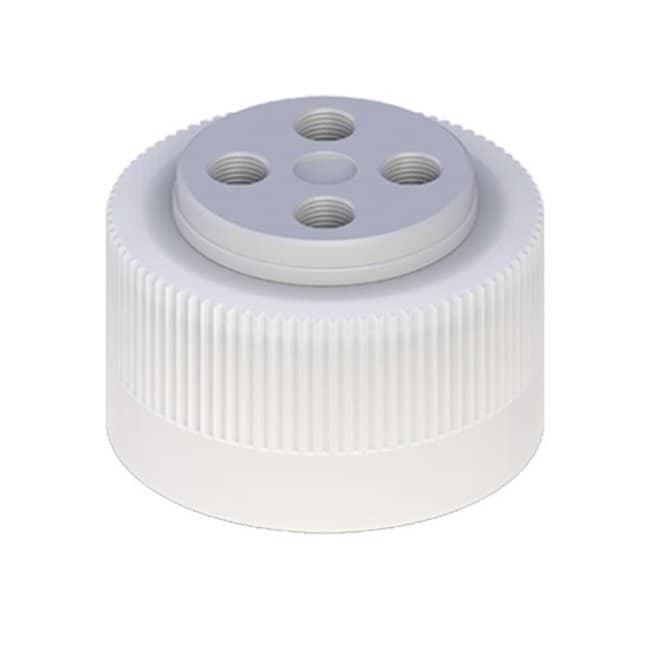 Cole-Parmer™VapLock™ Lösungsmittelverschlüsse mit Einlassventil und Filter FFKM-Lufteinlassventil, vier 1/4Zoll-28-Anschlüsse, 38-430; 1Stück Cole-Parmer™VapLock™ Lösungsmittelverschlüsse mit Einlassventil und Filter