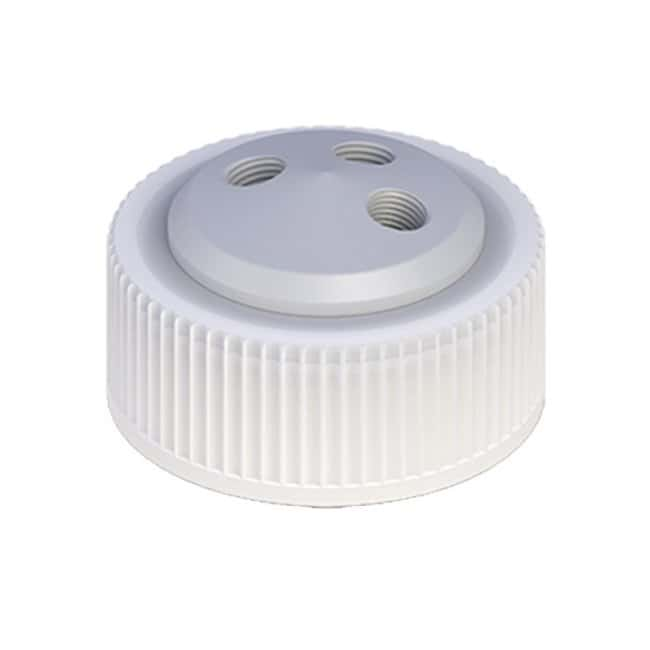 Cole-Parmer VapLock Solvent Delivery Caps three 1/4 in-28 ports, 38 mm