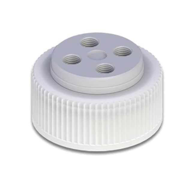 Cole-Parmer™VapLock™ Lösungsmittelverschlüsse mit Einlassventil und Filter EPDM-Lufteinlassventil, vier 1/4Zoll-28-Anschlüsse, 38mm Wako; 1Stück Cole-Parmer™VapLock™ Lösungsmittelverschlüsse mit Einlassventil und Filter