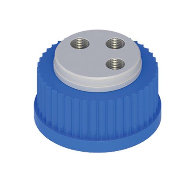 Cole-Parmer™VapLock™ Lösungsmittelverschlüsse 304SS-Anschlussgewindeeinsätze, drei 1/4Zoll-28, GL32; 1Stück Cole-Parmer™VapLock™ Lösungsmittelverschlüsse