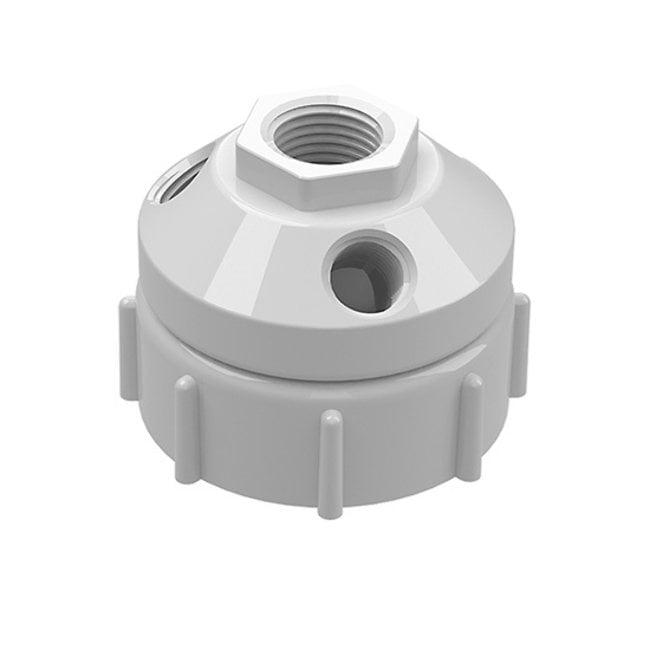 Cole-Parmer™VapLock™ Verschlusskappen für Abfallbehälter für Flaschen und Ballonflaschen PP, 60mm, 1x1/2Zoll NPTF, 3x1/4Zoll NPTF; 1Stück Cole-Parmer™VapLock™ Verschlusskappen für Abfallbehälter für Flaschen und Ballonflaschen