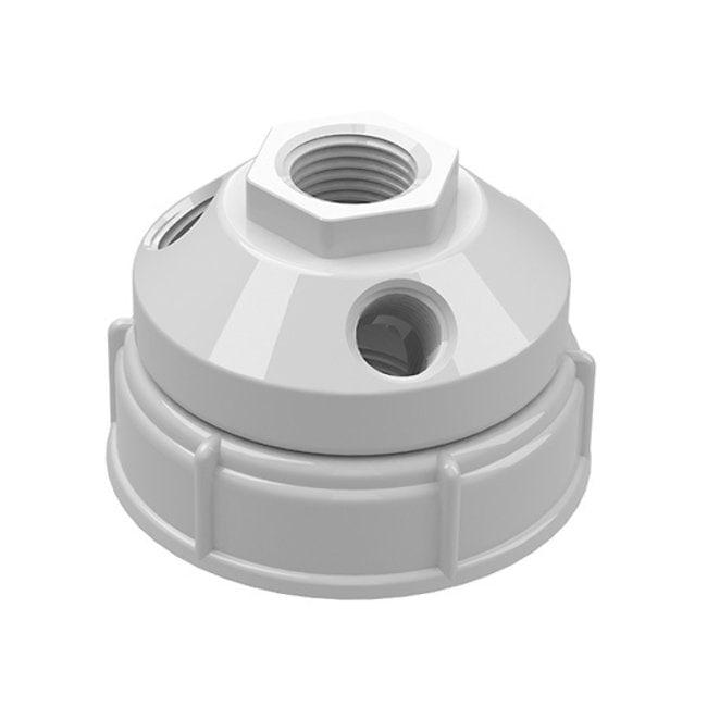 Cole-Parmer™VapLock™ Verschlusskappen für Abfallbehälter für Flaschen und Ballonflaschen PTFE, 63mm, 1x1/2Zoll NPTF, 3x1/4Zoll NPTF; 1Stück Cole-Parmer™VapLock™ Verschlusskappen für Abfallbehälter für Flaschen und Ballonflaschen