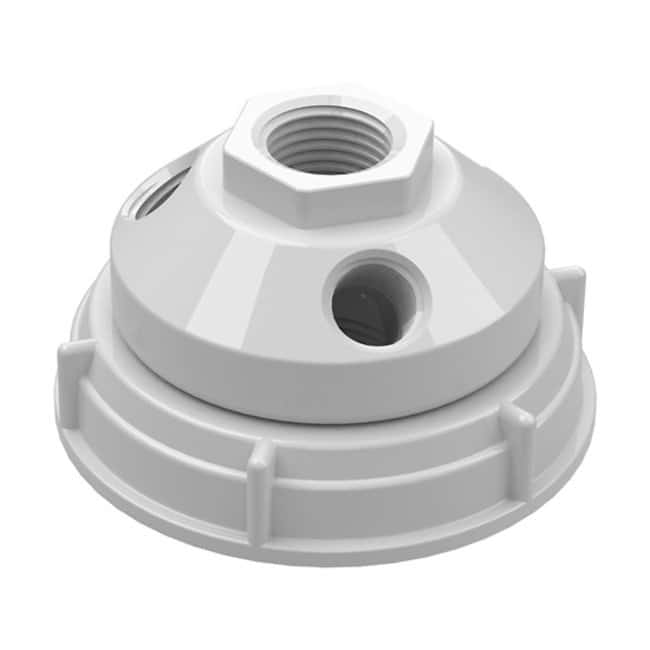 Cole-Parmer VapLock Solvent Waste Manifold Caps for Jars and Pails PTFE,