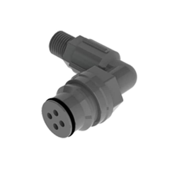 Cole-Parmer™VapLock™-Adapter für Abluftfilter, Schnellanschluss Filteradapter, 90°-Winkel, Justrite Centura Schnellkupplung, PP und EPDM; 1Stück Cole-Parmer™VapLock™-Adapter für Abluftfilter, Schnellanschluss