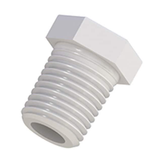 Cole-Parmer VapLock Threaded Plugs 1/4 in NPT(M), PTFE; 1/ea