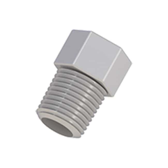 Cole-Parmer VapLock Threaded Plugs 1/8 in NPT(M), Polypropylene; 10/pk