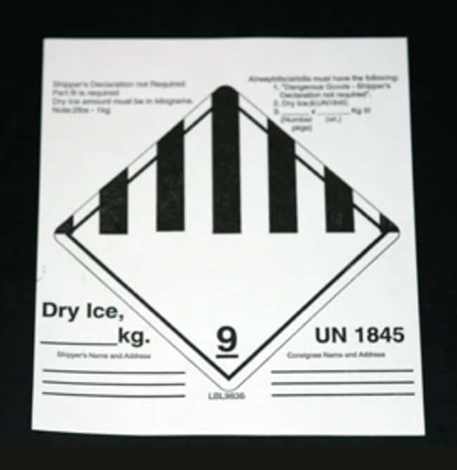Fisherbrand Shipping Labels:Gloves, Glasses and Safety:Facility Maintenance