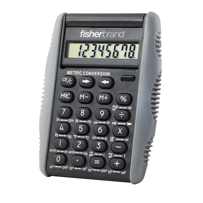 FisherbrandMetric Conversion Calculator 9.5H x 7.6W x 1.3cm H; Wt.: 2 oz.