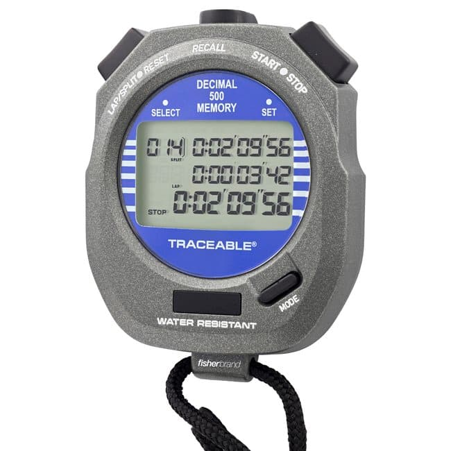 Fisherbrand™ Traceable™ Decimal Stopwatch Traceable Decimal Stopwatch Fisherbrand™ Traceable™ Decimal Stopwatch