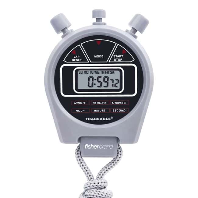 Fisherbrand™ Traceable™ 24-Hour Stopwatches Dimensions: 2.125 dia. × 0.625in.L Fisherbrand™ Traceable™ 24-Hour Stopwatches