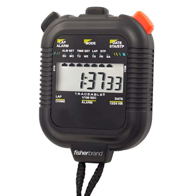 Fisherbrand™ Traceable™ 24-Hour Stopwatches Shockproof stopwatch Fisherbrand™ Traceable™ 24-Hour Stopwatches