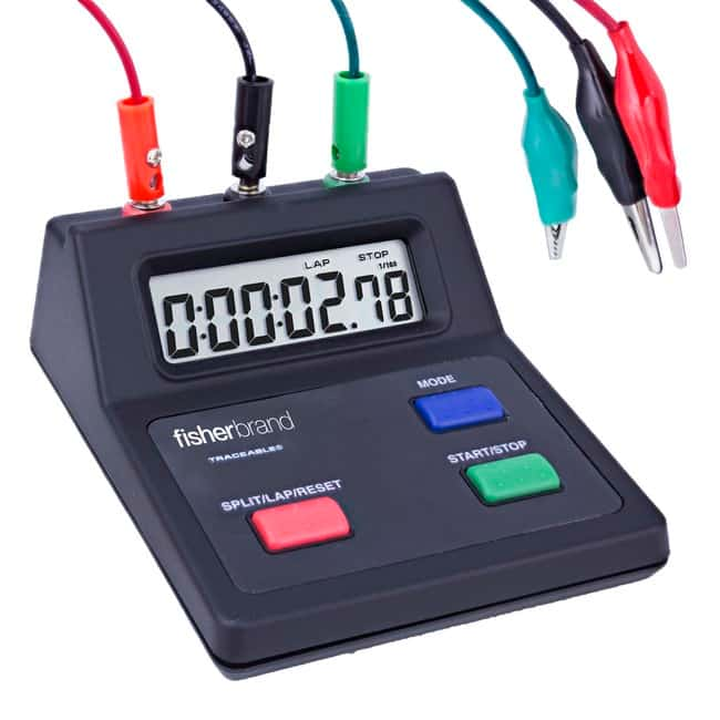Fisherbrand™ Traceable™ Countup Benchtop Timers 4L x 4.25W x 1.75 in.H; 10 hours Fisherbrand™ Traceable™ Countup Benchtop Timers