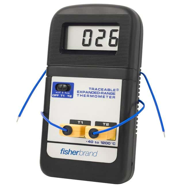 FisherbrandTraceable Expanded-Range Thermometers Range: -40deg. to +1200deg.C;