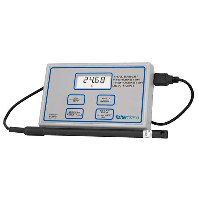 Fisherbrand™Traceable™ Digital Humidity/Temperature Meter Digital meter Electronic Hygrometers