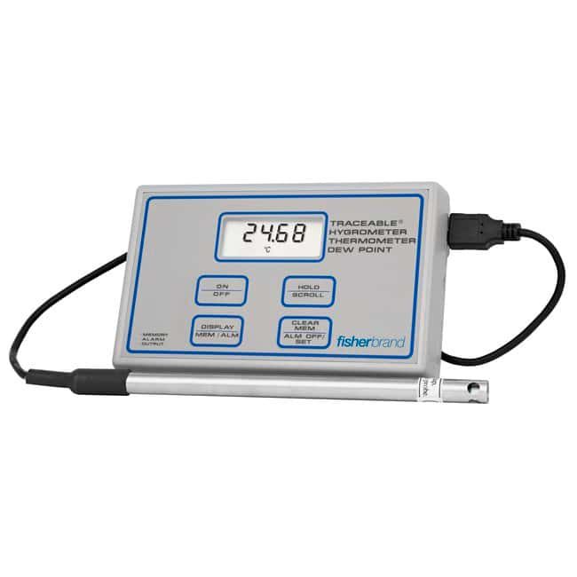 Fisherbrand Certified Traceable Digital Hygrometer/Thermometers :Thermometers,