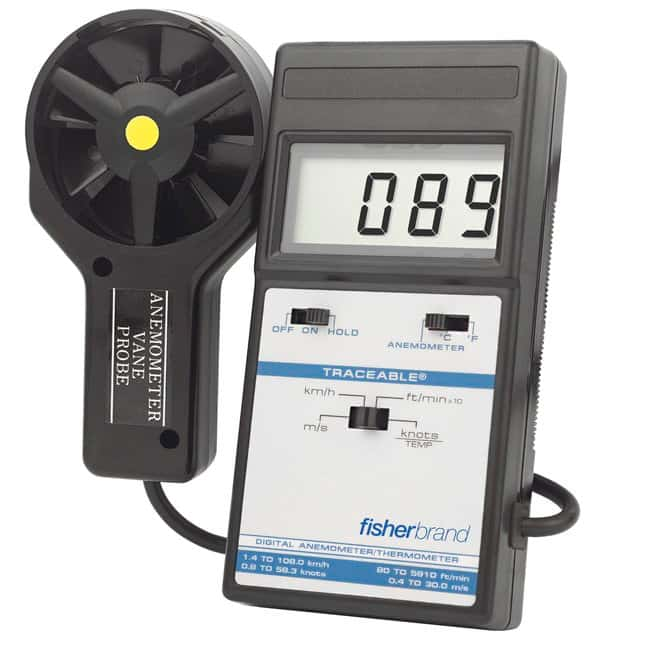 FisherbrandTraceable Digital Anemometer/Thermometer Economy Digital Anemometer/Thermometer:Flow