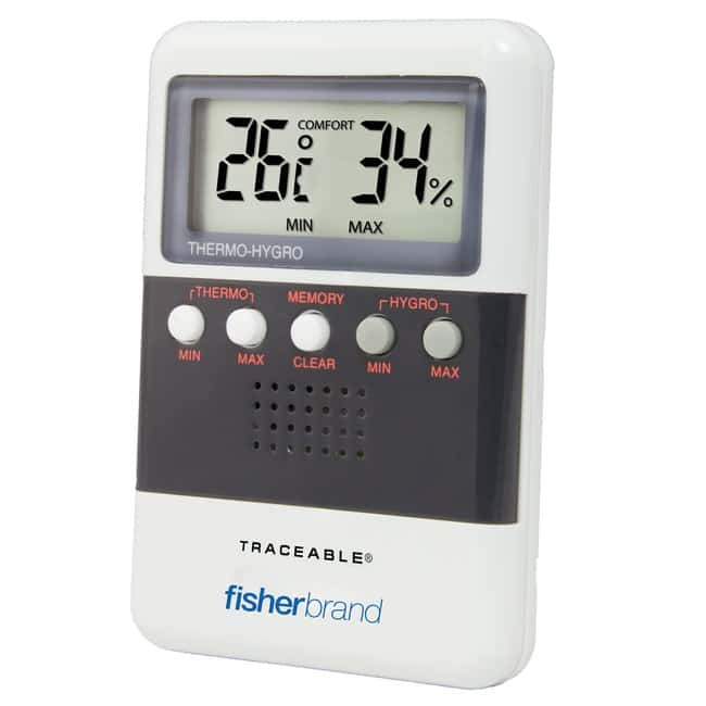 Fisherbrand™ Traceable™ Relative Humidity/Temperature Meters With temperature memory readout Fisherbrand™ Traceable™ Relative Humidity/Temperature Meters