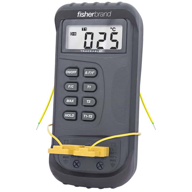 Fisherbrand Traceable Dual-Channel Thermometer with Ofts With offsets;