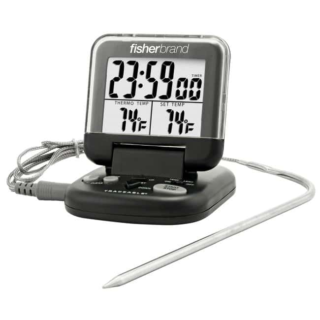 Fisherbrand™Digital Thermometers with Stainless-Steel Probe on Cable 0° to 200°C or 32° to 392°F Fisherbrand™Digital Thermometers with Stainless-Steel Probe on Cable