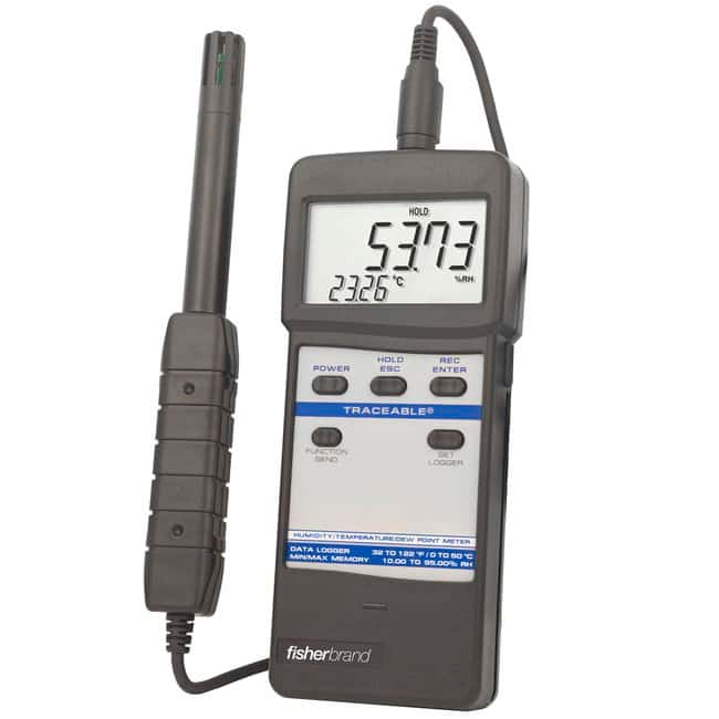 Fisherbrand™ Traceable™ Temperature/Humidity Meter Temperature/humidity meter Electronic Hygrometers