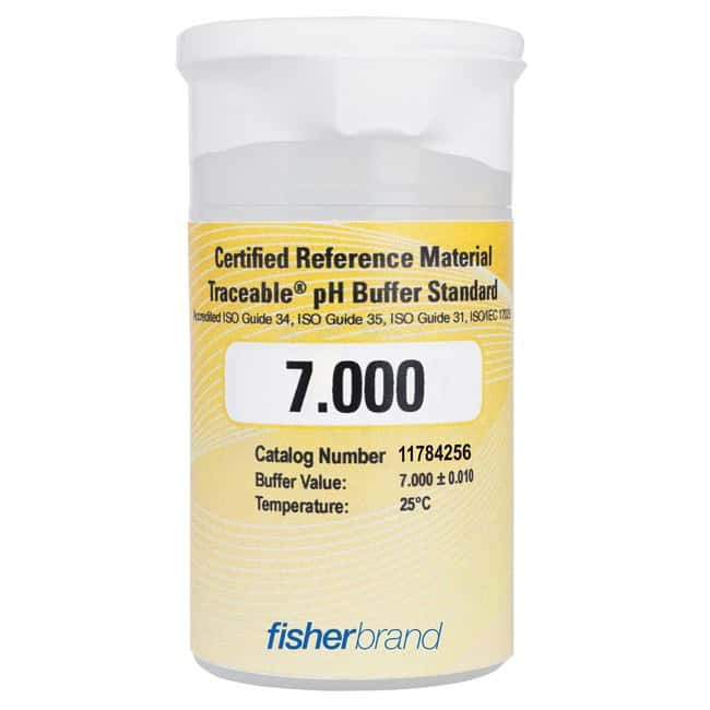 Fisherbrand™ Traceable™ pH Buffer Standards, Certified Reference Material (CRM) pH7.000 One-Shot, 6 x 100mL Fisherbrand™ Traceable™ pH Buffer Standards, Certified Reference Material (CRM)