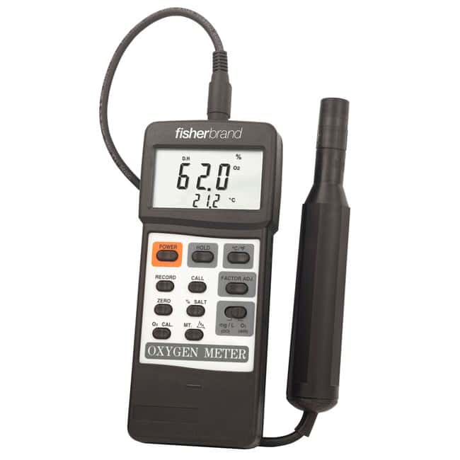 Fisherbrand™ Traceable™ Portable Dissolved Oxygen Meter Portable dissolved oxygen meter; Range: 0 to 20mg/L Portable Dissolved Oxygen Meters