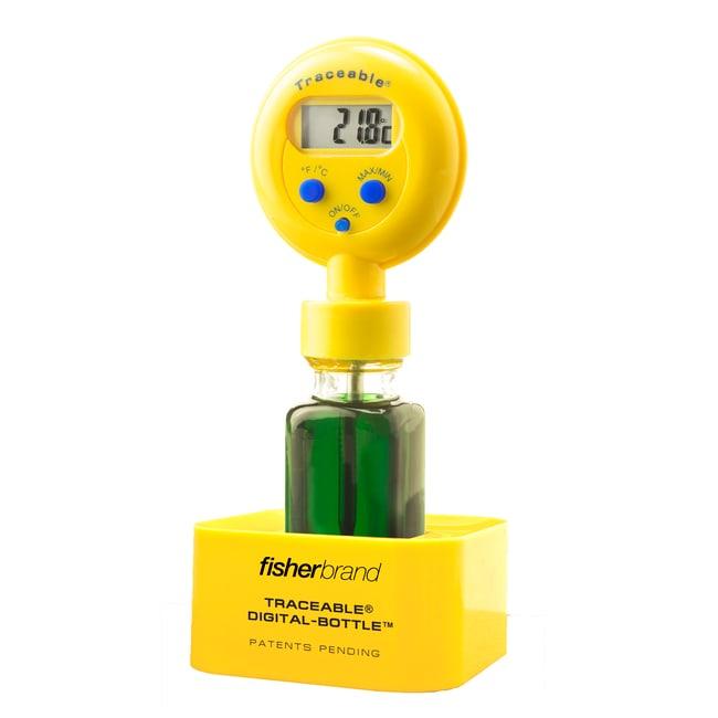 Fisherbrand™Traceable™ Digital-Bottle™ Refrigerator Thermometers, Standard model
