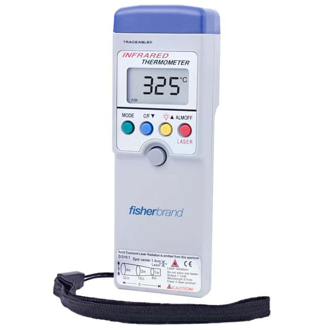 Fisherbrand™ Traceable™ Noncontact Infrared Thermometers Ranges: -20° to +420°C/0° to +788°F Fisherbrand™ Traceable™ Noncontact Infrared Thermometers
