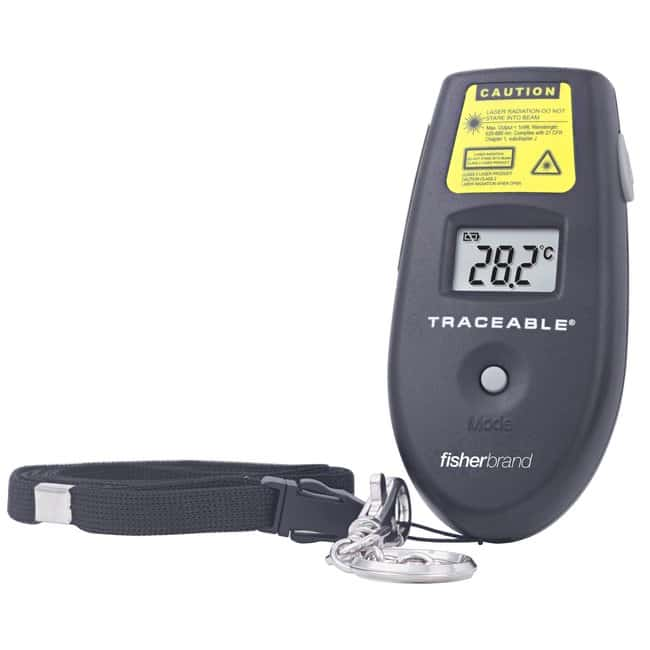 Fisherbrand Traceable Infrared Thermometer with Wristband:Thermometers,