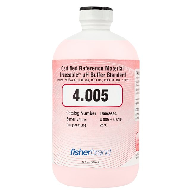 Fisherbrand™Traceable™ ISO Guide 34 Color-Coded CRM pH Buffers (Certified Reference Material)