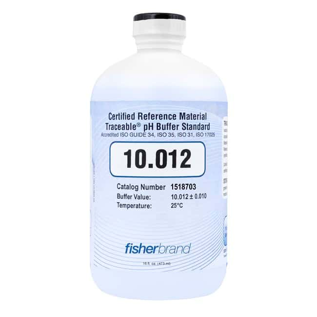 Fisherbrand™ Traceable™ ISO Guide 34 Color-Coded CRM pH Buffers (Certified Reference Material): Bioreagents Chemicals