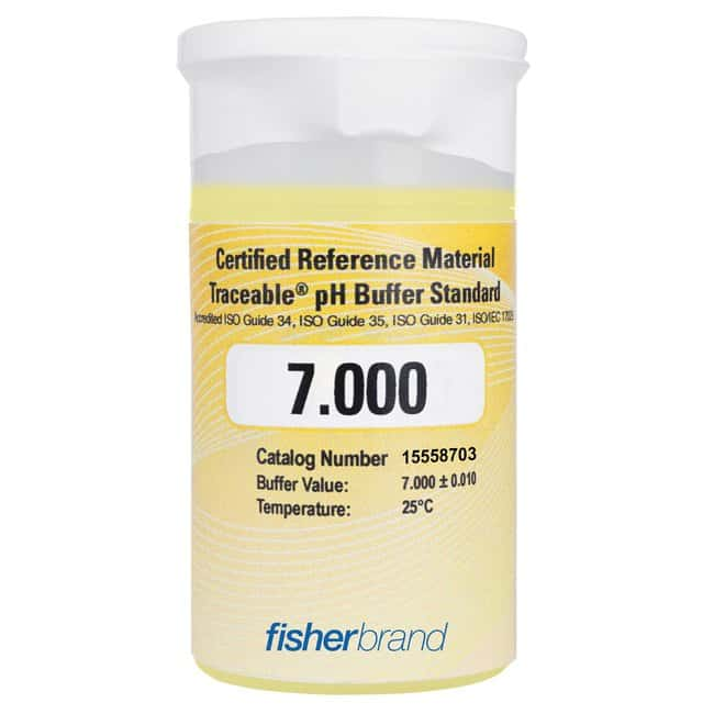 Fisherbrand™Traceable™ One-Shot™ pH Buffer Standards pH 4.005 Certified Reference Material (CRM) 100mL One-Shot (6-pack) Fisherbrand™Traceable™ One-Shot™ pH Buffer Standards pH 4.005 Certified Reference Material (CRM)