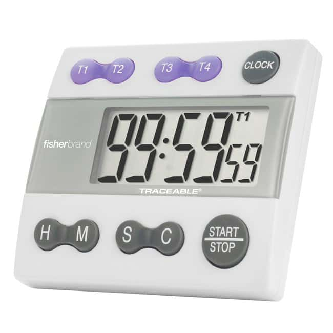 Fisherbrand™ Traceable™ Four-Channel Countdown Alarm Digital Timer/Stopwatch with Memory Recall
