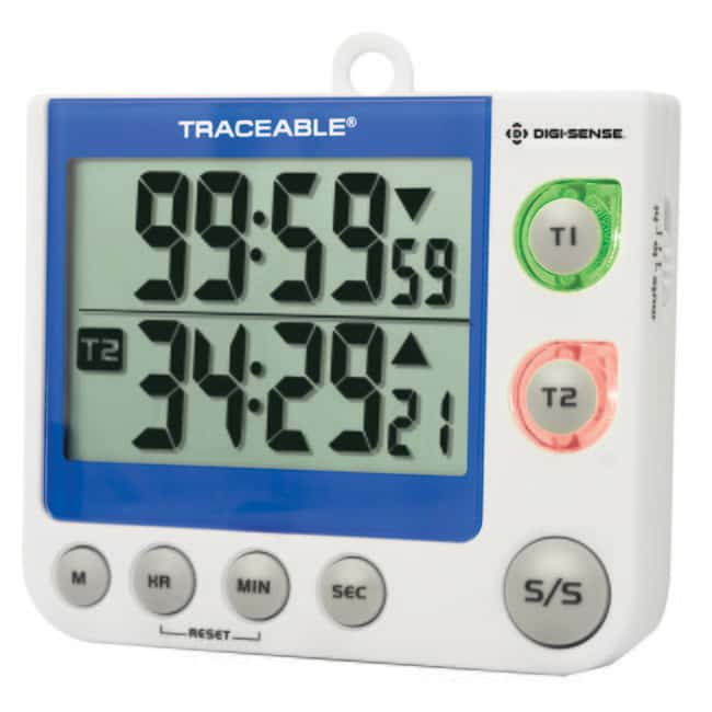 Fisherbrand™ Traceable™ Flashing LED Big-Digit Dual Channel Timer