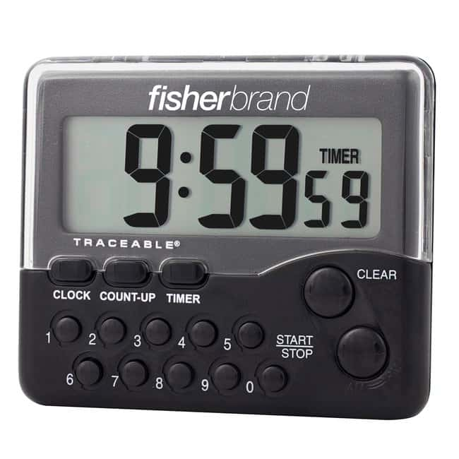 Fisherbrand™Traceable™ Electronic Timer Clock: 10-Hour Timer range: 10 hours Stopwatches