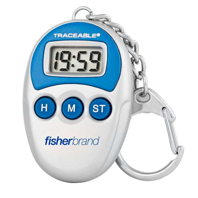 Fisherbrand™ Traceable™ Handheld Timers with Key-Ring Clip: Timers, Clocks, and Stopwatches Thermometers, Timers and pH