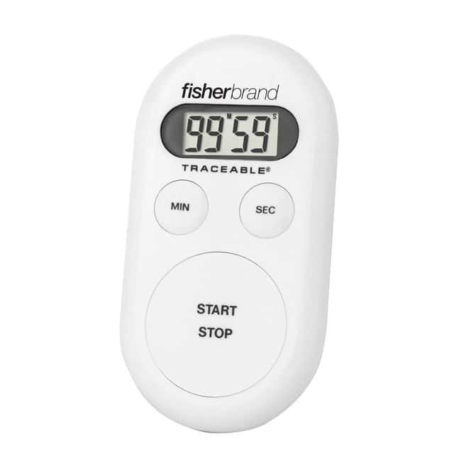 Fisherbrand™Traceable™ Handheld Timers with Memory Recall Timer range: 100 min. Fisherbrand™Traceable™ Handheld Timers with Memory Recall