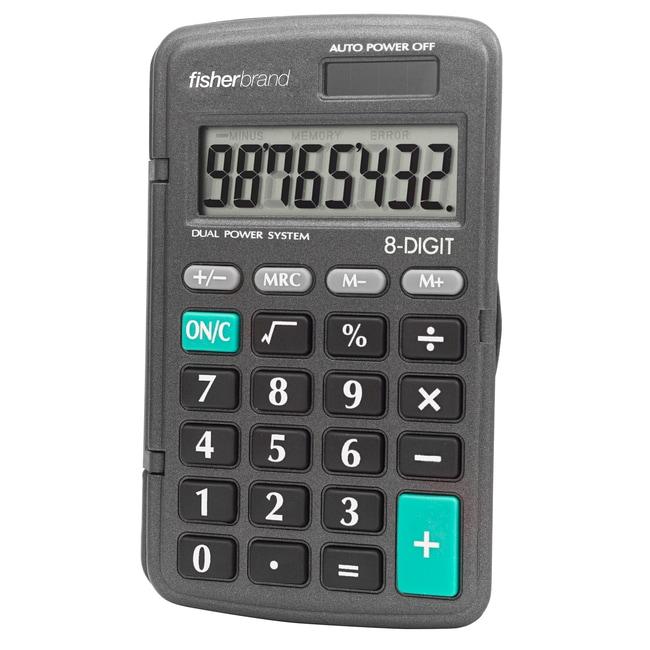 FisherbrandSolar-Powered, Big-Digit Calculator 10.8L x 6.0W x 0.6cm H;