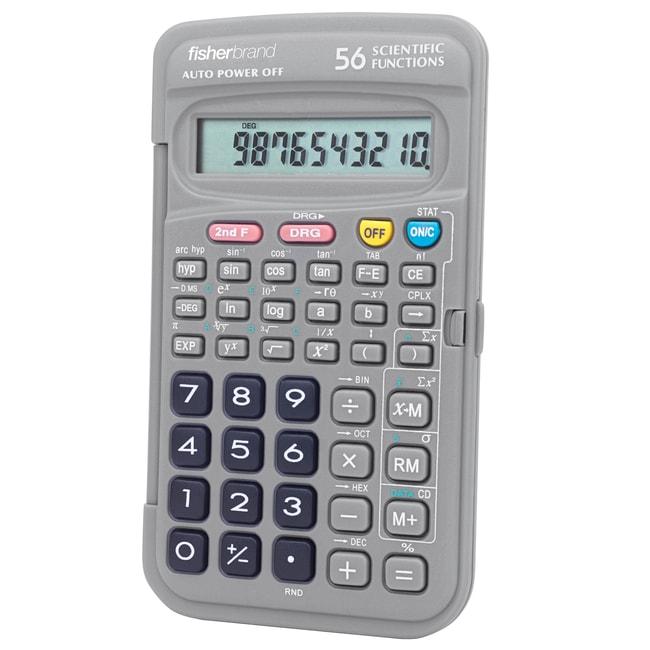 FisherbrandPocket-Sized Scientific Calculator 12.7L x 7.6W x 1.3cm H; Weight: