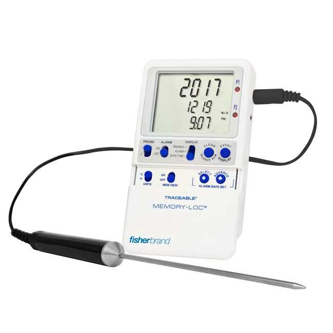Fisherbrand Traceable Memory-Loc Datalogging Thermometers :Recorders and
