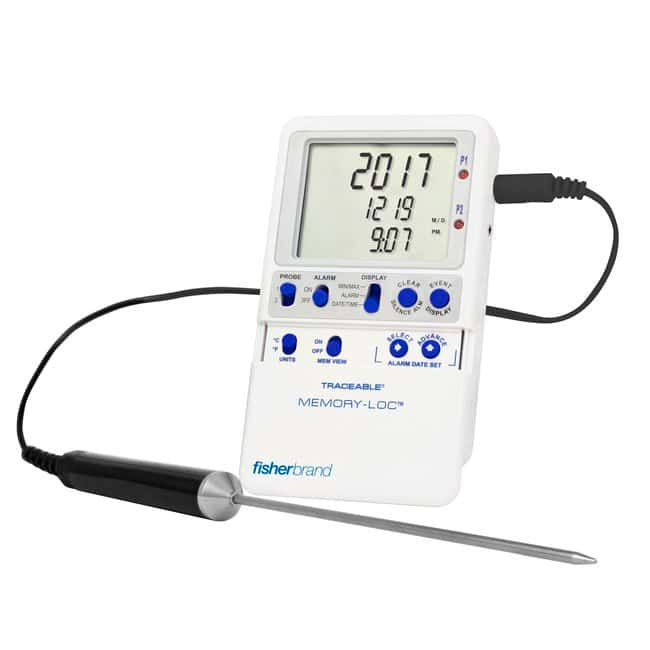 Fisherbrand™ Traceable™ Memory-Loc™ Datalogging Thermometers 1 Stainless-Steel Probe Fisherbrand™ Traceable™ Memory-Loc™ Datalogging Thermometers
