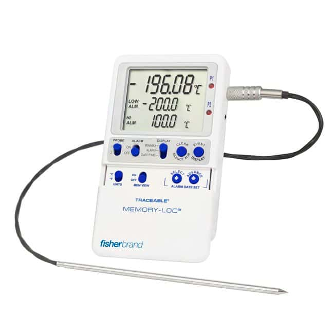 Fisherbrand Memory-Loc Liquid Nitrogen Traceable DataLogger Thermometer:Recorders
