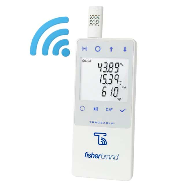 Fisherbrand™ TraceableLIVE™ WiFi Datalogging: Barometric Pressure, with Remote Notification