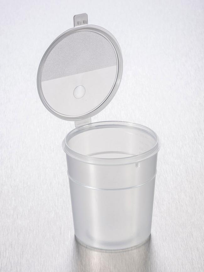Gosselin™Gosselin™ gerader Behälter aus Polypropylen mit aufklappbarem Verschluss Naturfarben; nicht steril; graduiert; Kapazität: 300ml Gosselin™Gosselin™ gerader Behälter aus Polypropylen mit aufklappbarem Verschluss