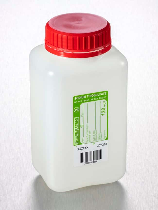 Gosselin™ Water Sampling Square HDPE Bottle, Tamper-Evident Cap, with Sodium Thiosulfate 1L Gosselin™ Water Sampling Square HDPE Bottle, Tamper-Evident Cap, with Sodium Thiosulfate