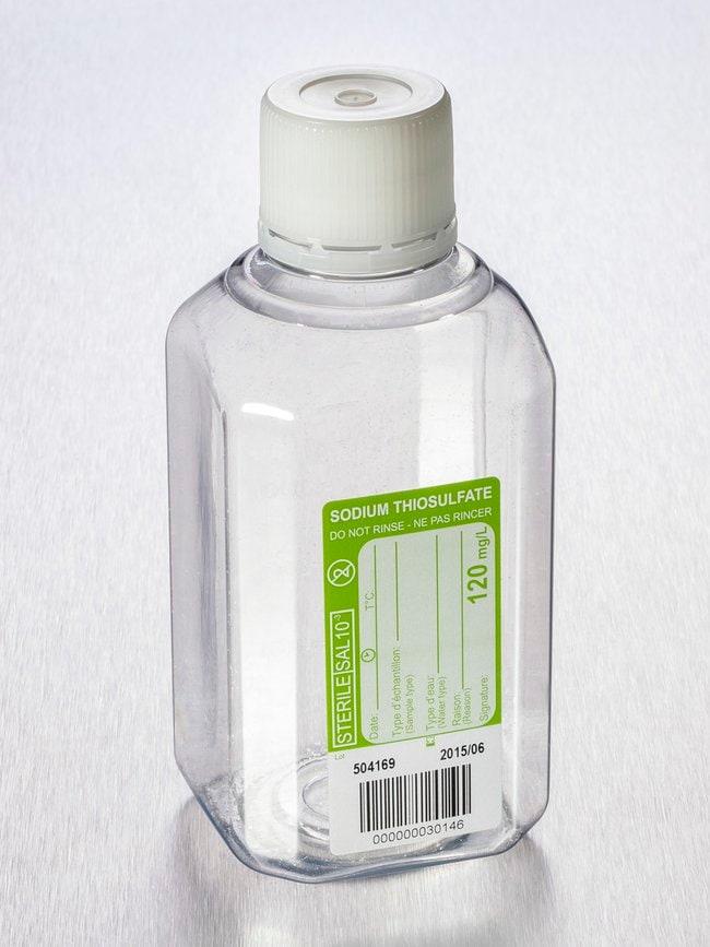 Gosselin™Water Sampling Octagonal PET Bottle 500 mL, Graduated, 120 mg/L Sodium Thiosulfate, 31 mm Tamper-evident Cap, Sterile, 1/Bag, 90/Case Gosselin™Water Sampling Octagonal PET Bottle