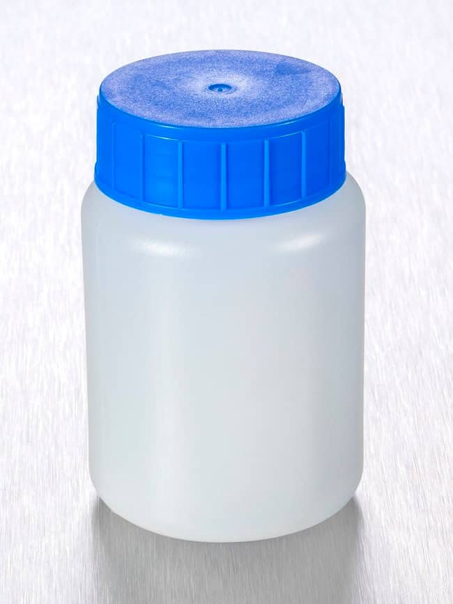 Gosselin™Round HDPE 100 mL Bottles Blue LDPE screw cap with inner lip; Non-sterile Gosselin™Round HDPE 100 mL Bottles