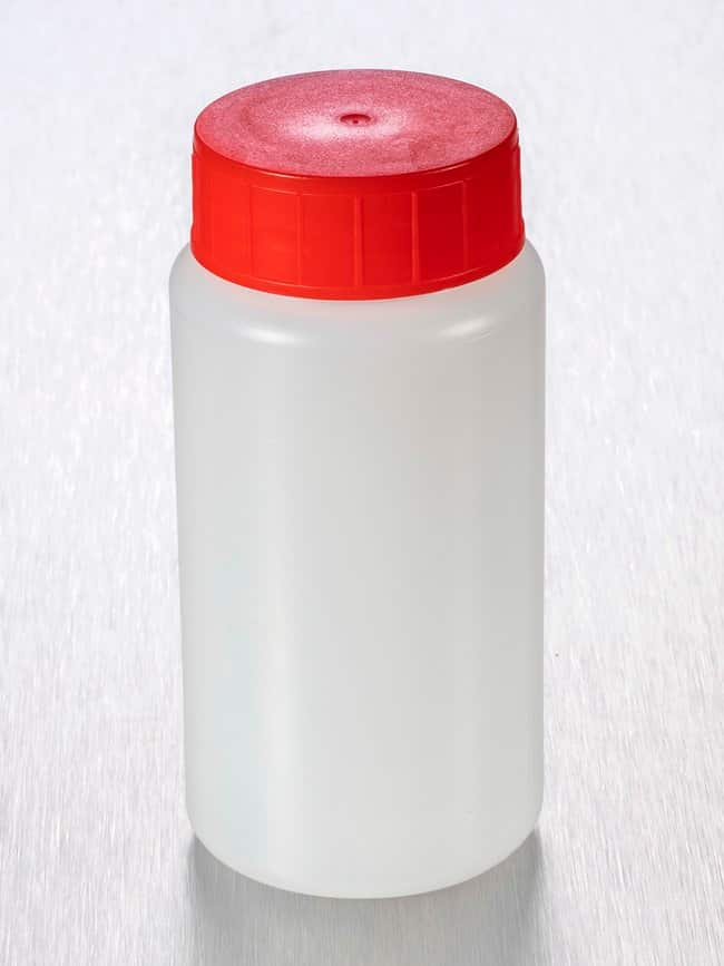 Gosselin™ Round HDPE 150 mL Bottles Red HDPE screw cap with wad; Non-sterile Gosselin™ Round HDPE 150 mL Bottles